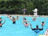 people doing water aerobics at Memorial Park