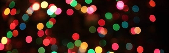 blurred holiday lights