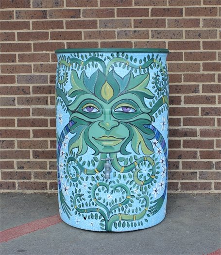 Cameron Bliss's wonderful Green Man for the 2016 Roll Out the Barrels.