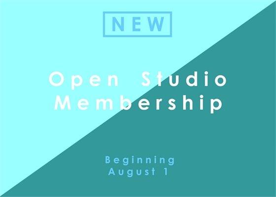 Open Studio Membership begins August 1