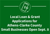 Local Loan & Grant Applications for Athens-Clarke County Small Businesses Open Sept. 8