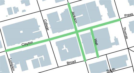 Clayton Street Area Map