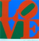 "Block print of word ""Love"""