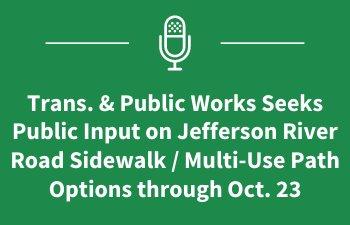 Jefferson River Road Sidewalk Project