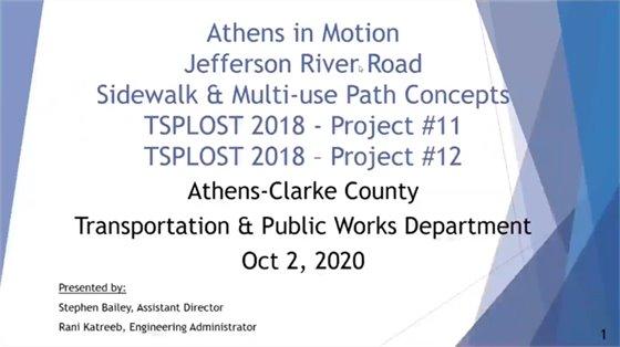Jefferson River Road Sidewalk & Multi-Use Path Concepts