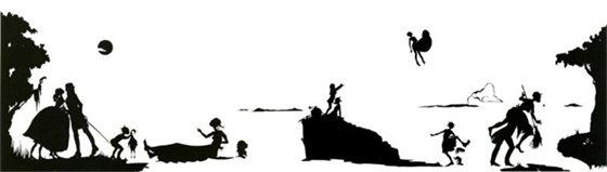 silhouette of women doing activities