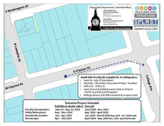 Clayton Street Pre-Dig Map