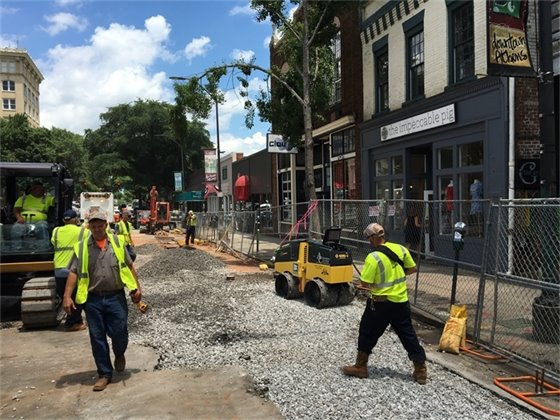Pre-Dig Work on Clayton Street Improvements