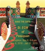 Picture of Pasaquan with information about exhibit