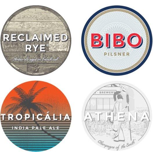 Creature Comforts beer labels