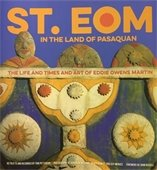 Book cover featuring art of St. EOM