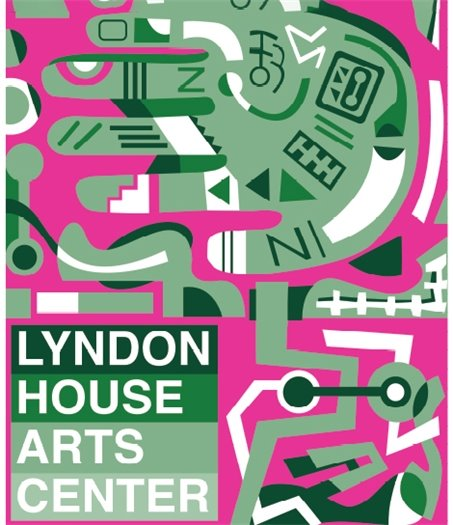 Lyndon House Arts Center pole banners by artist Jared Brown