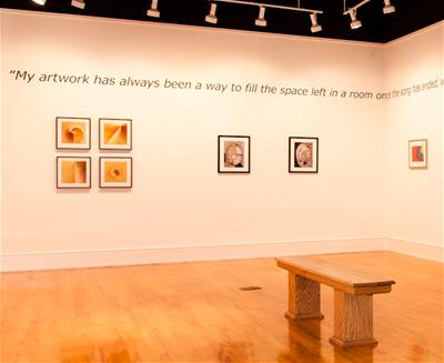 richie havens paintings on wall in museum with quote
