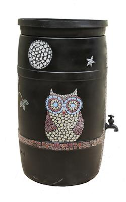 Cindy Jamison - Untitled Barrel (Athens Tech Owl)