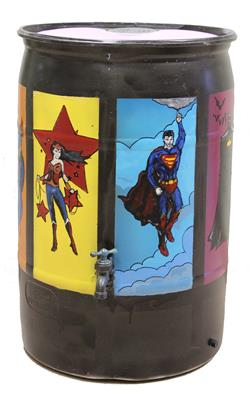 Lorenza Chico Rozier - Untitled Barrel (Super superheroes)