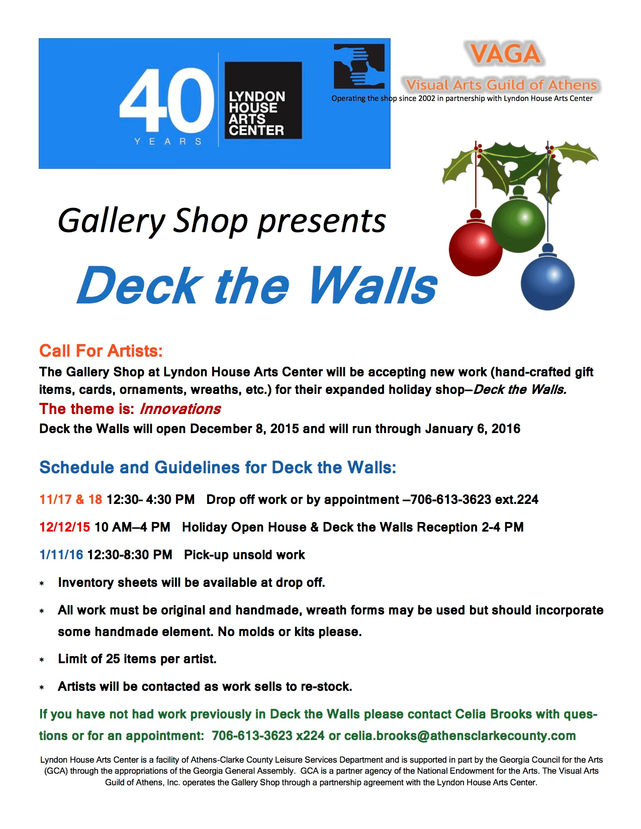 Deck the Walls