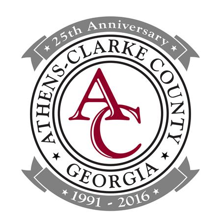 Athens-Clarke County 25th Anniversary of Unification Logo