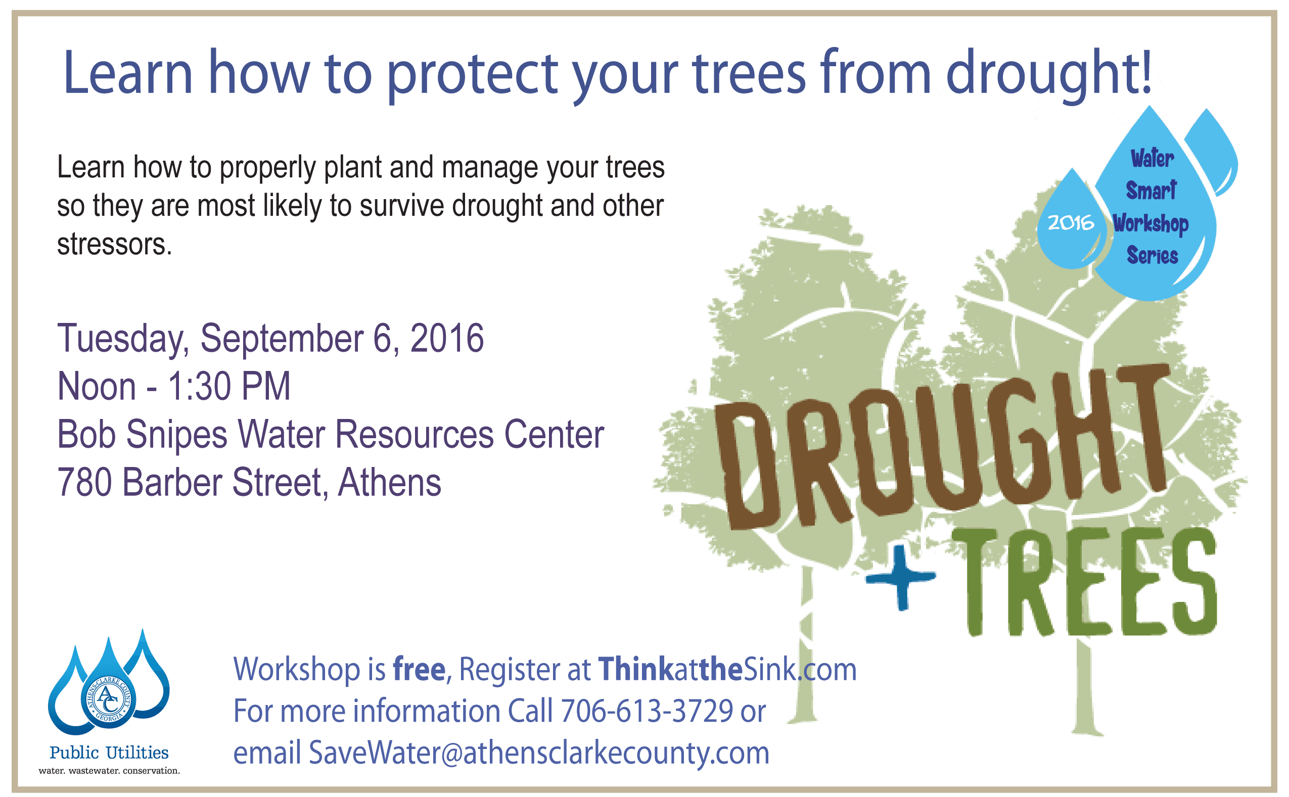 water smart series drought trees