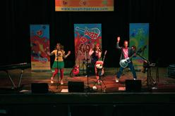 Laughing Pizza performs at the Morton Theatre