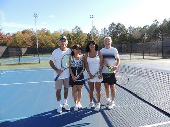 Group of tennis players at the ACC Tennis Center