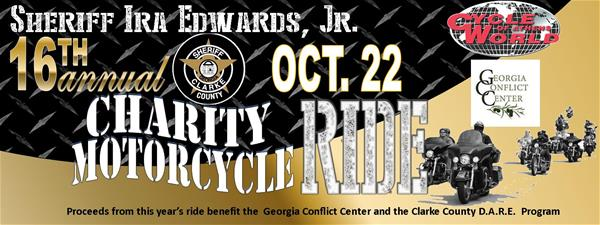 16 Annual Charity Motorcycle Ride