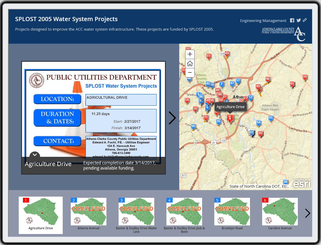 SPLOST 2005 Water Improvement System Projects