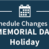 Memorial Day closure information