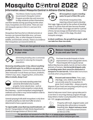 Mosquito Control Tips Flyer