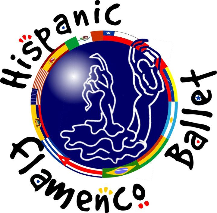 Hispanic Flamenco Ballet colorful logo