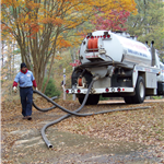 septic pumping demo