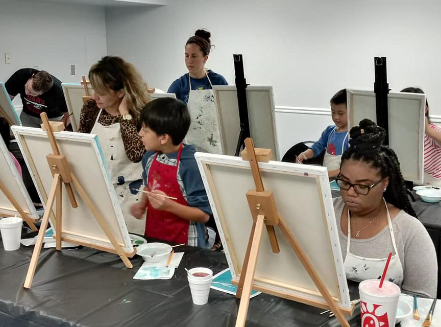 paint night at East Athens Community Center