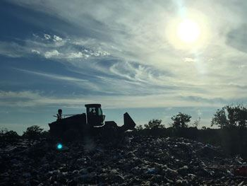Landfill Compactor Sunset