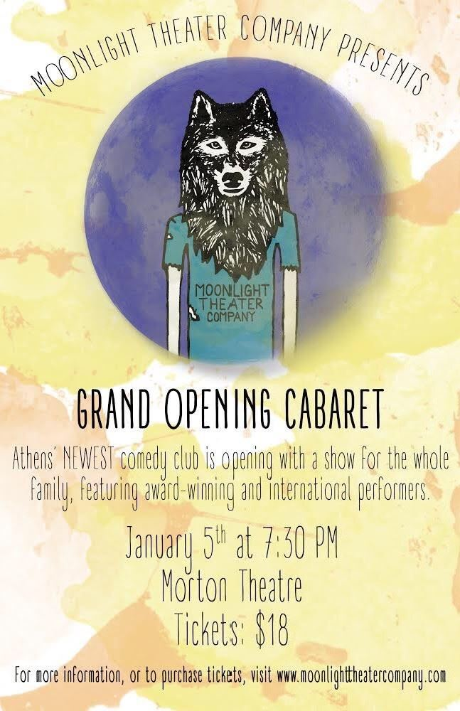 Moonlight Theatre Company Grand Opening Cabaret Poster
