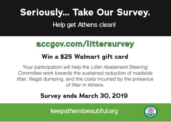 litter survey postcard