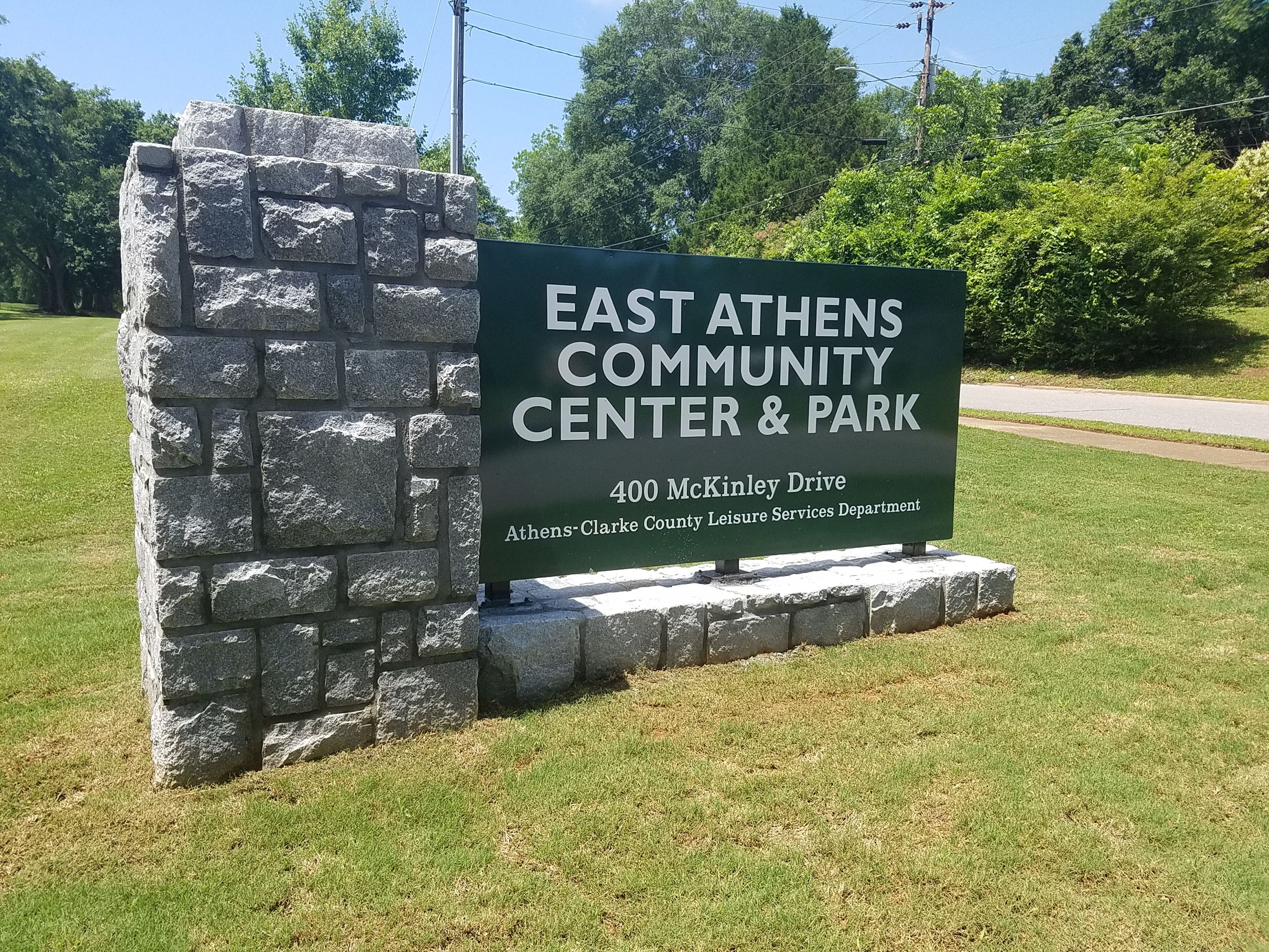 East Athens Community Center Sign