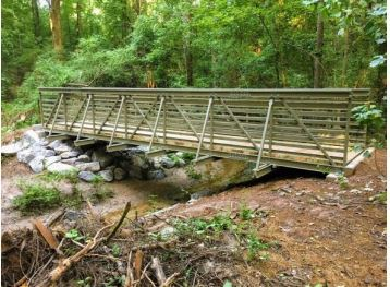 Fiberglass Bridge in Woods