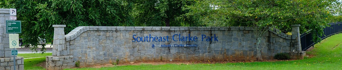 Southeast Clarke Park entrance sign
