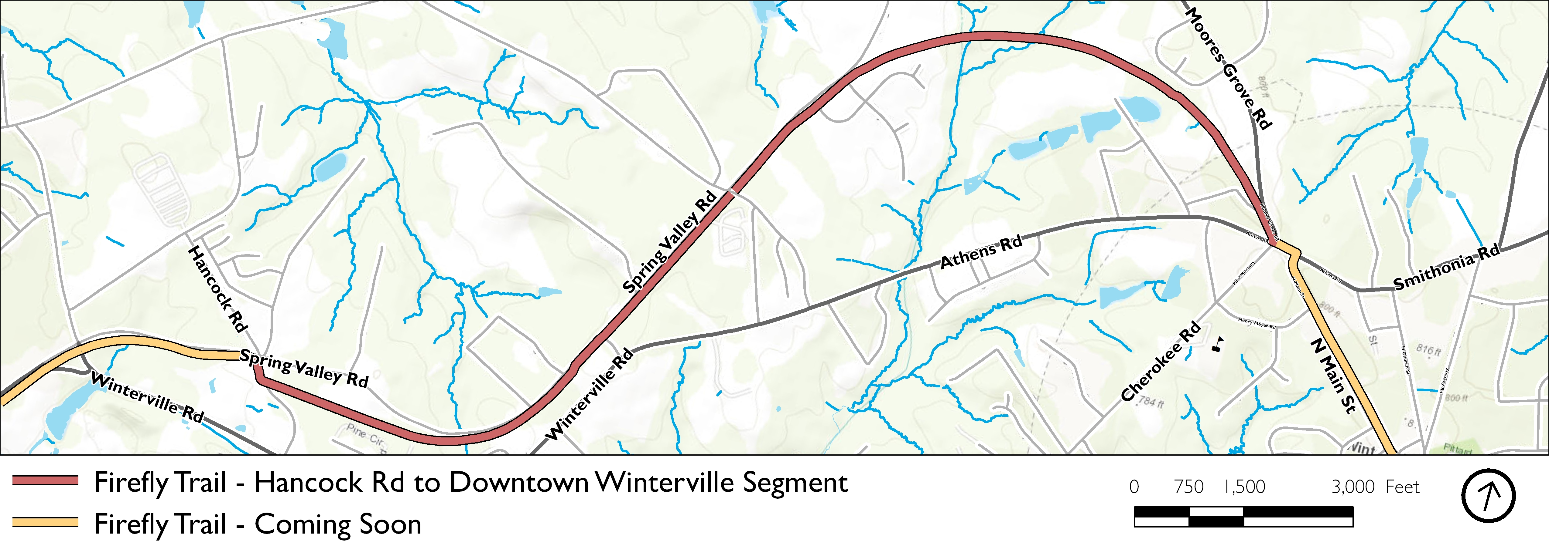 Firefly Trail - Hancock Rd to Downtown Winterville Segment