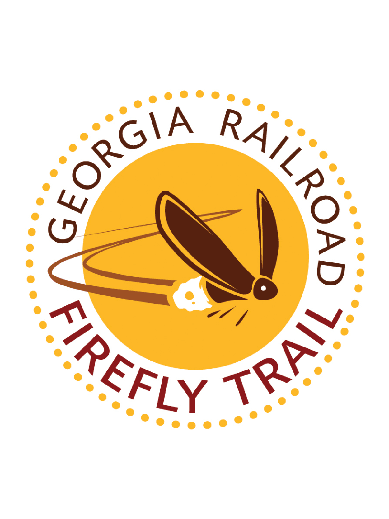 leisure services listens graphic - firefly trail logo - firefly in a circle
