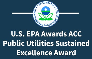 Athens-Clarke County Public Utilities Department receives Sustained Excellence Award