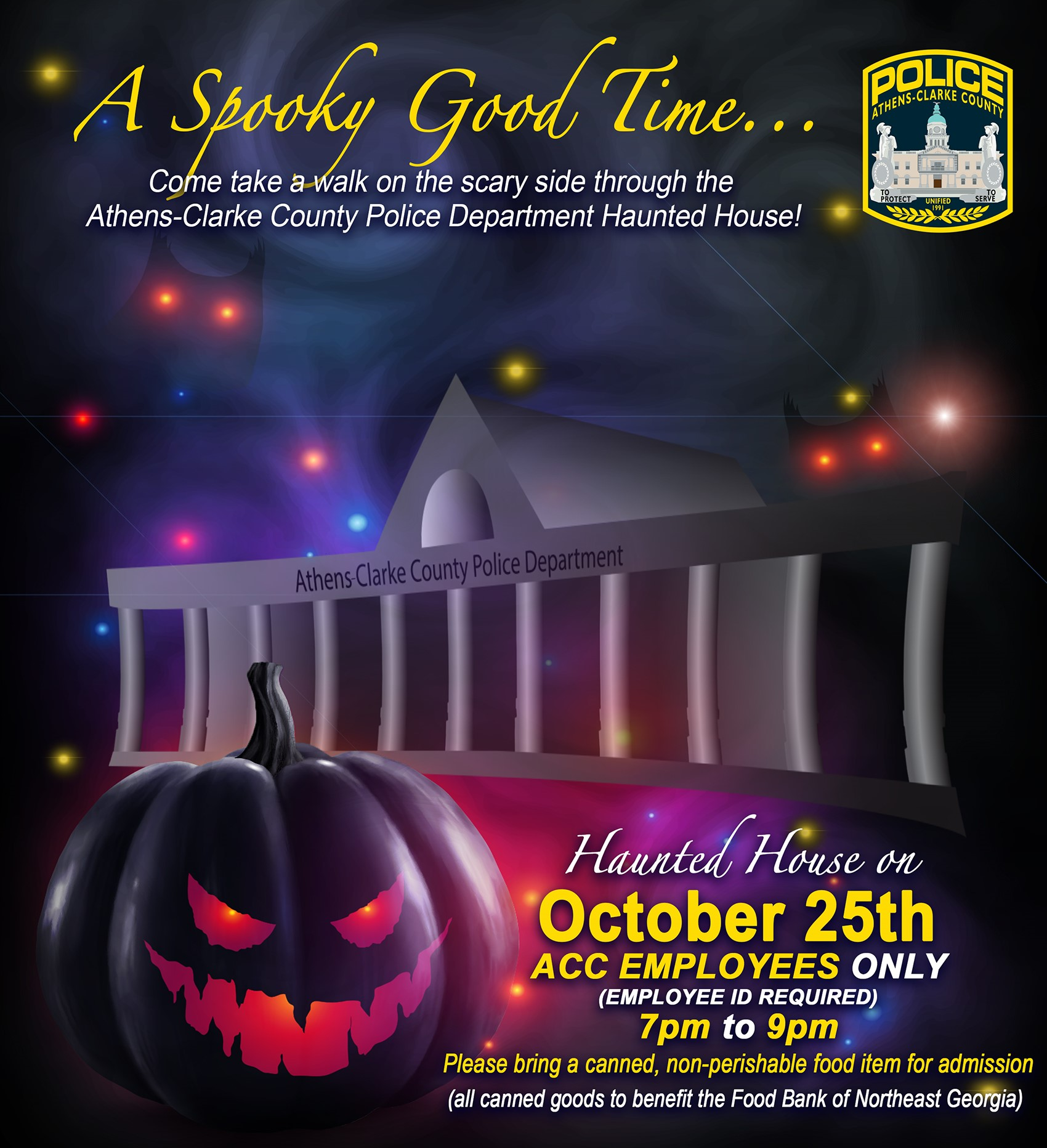 Employee-only Haunted House at ACCPD