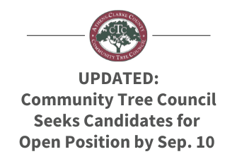 Community Tree Council Seeks Applicants for Volunteer Positions