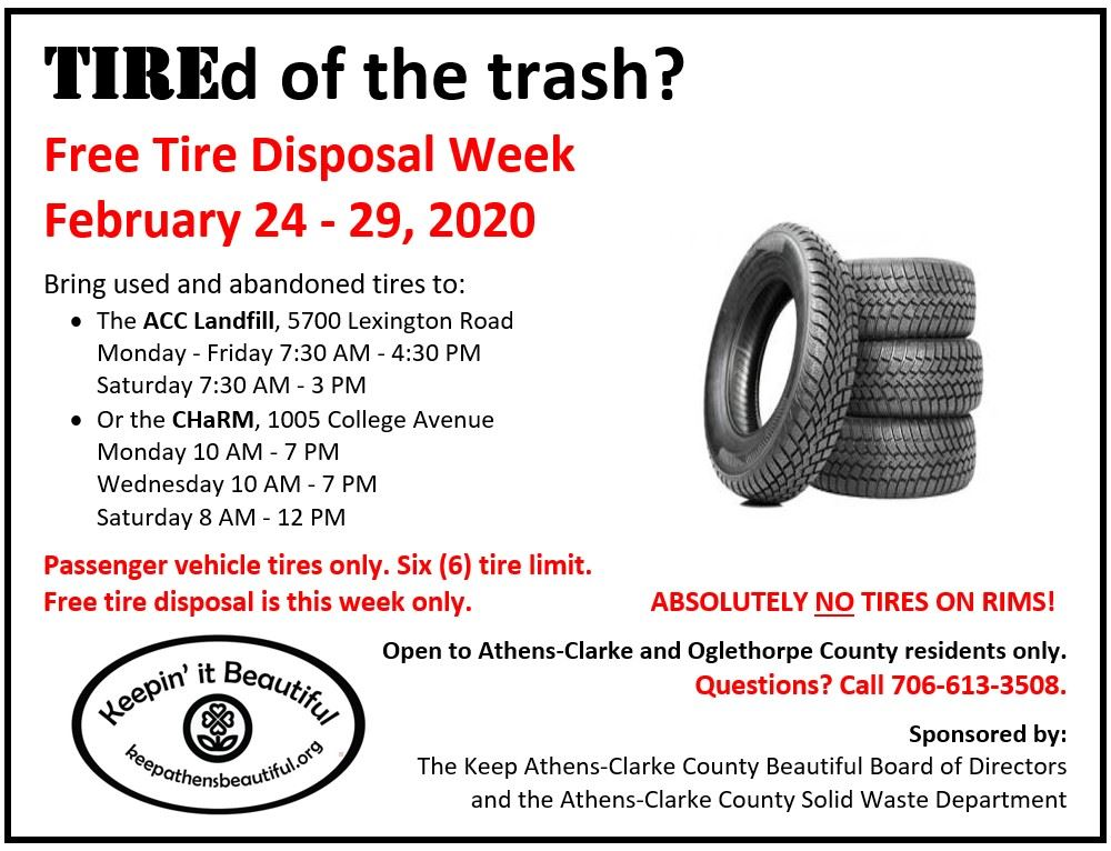 tire recycling flyer 2020