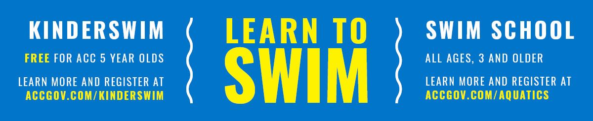 web banner - learn to swim