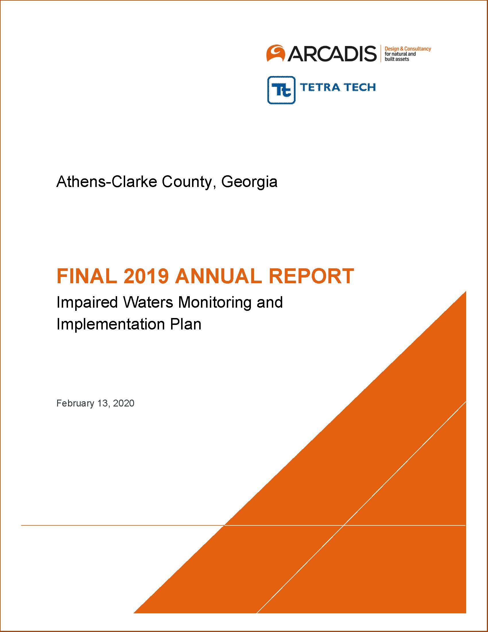 2019 Impaired Waters Annual Report Cover Page