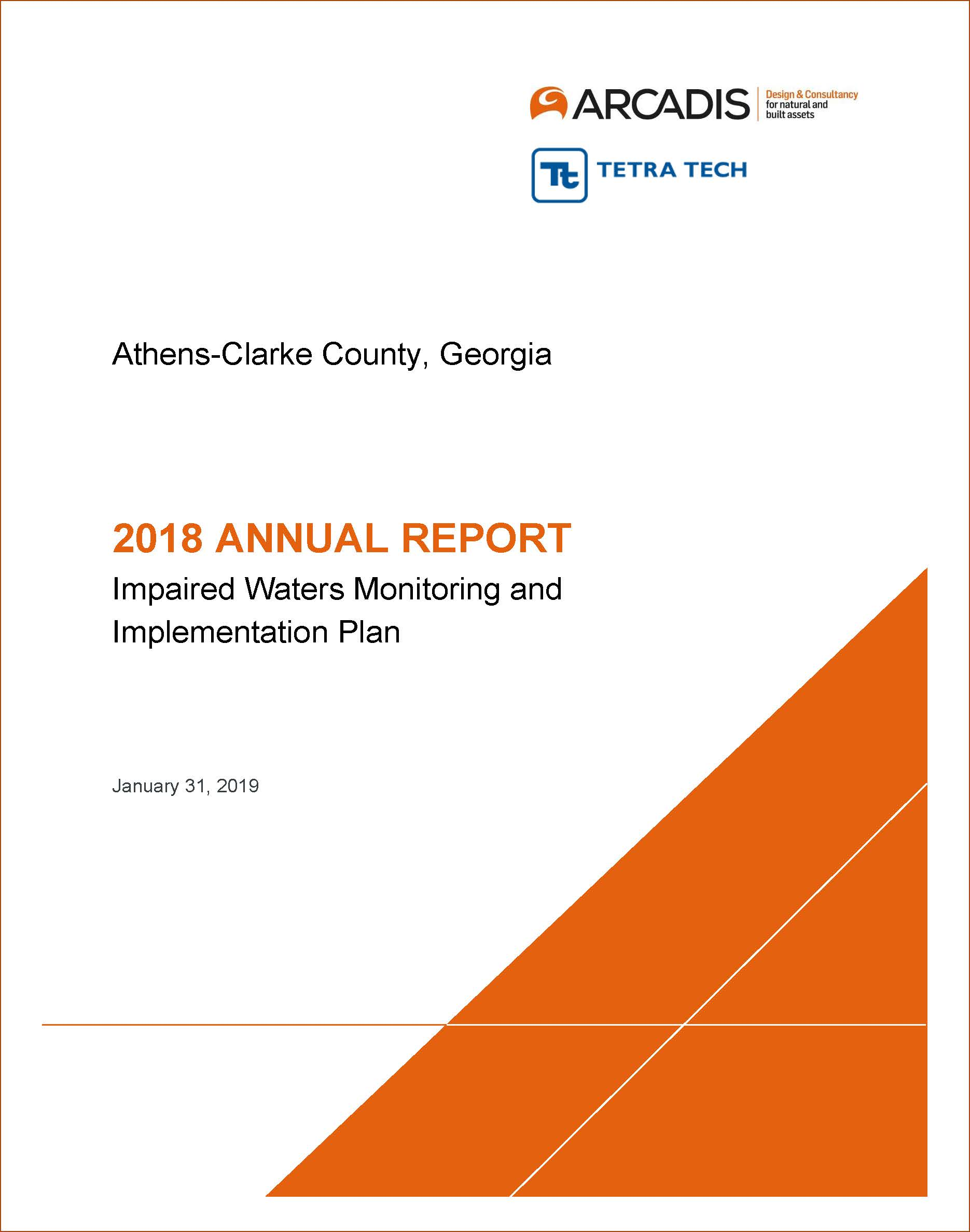 2018 Impaired Waters Report Cover Page