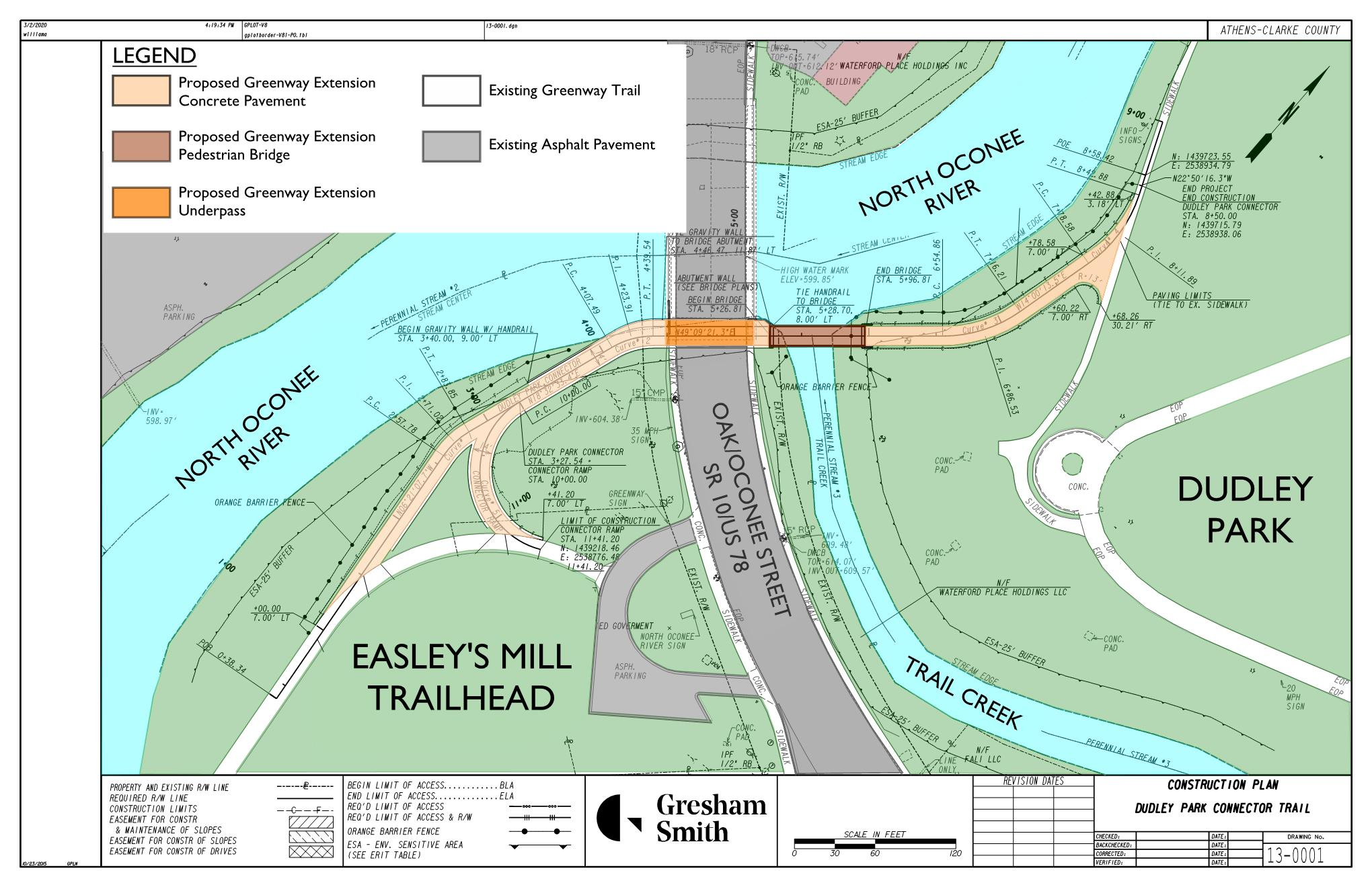 oak/oconee st. bridge greenway project - Exhibit 1 - Greenway Extension-Dudley