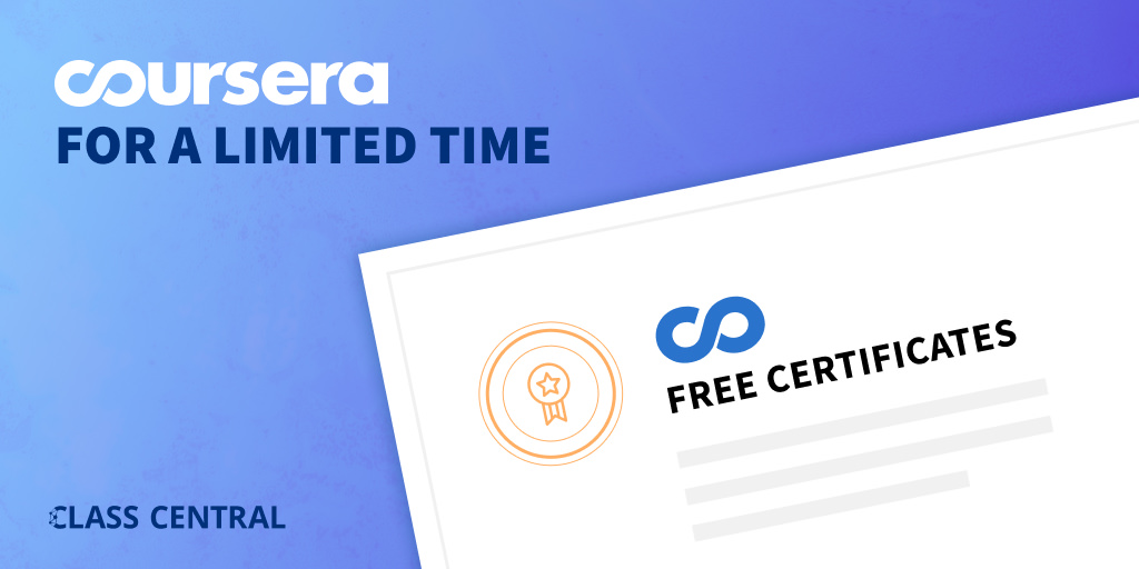 Link to Coursera Free Certification course list