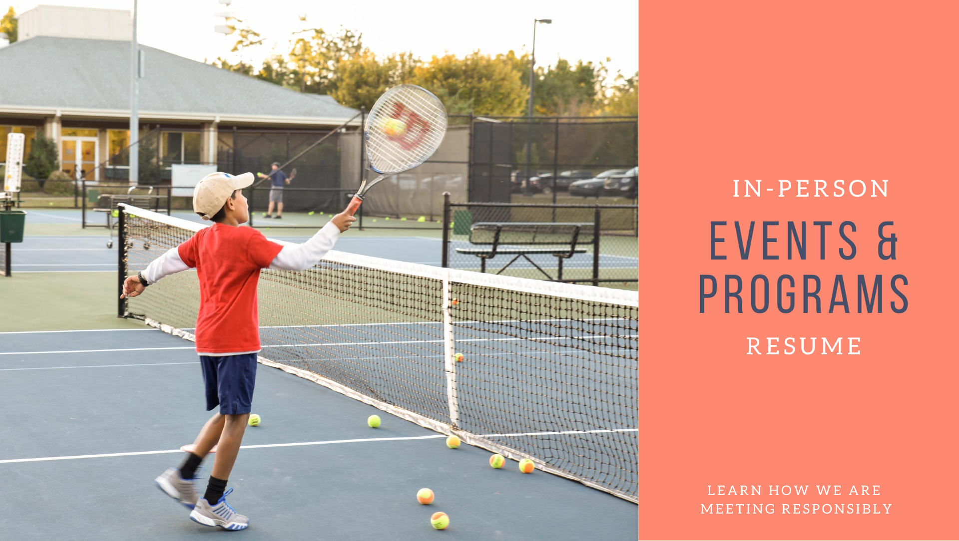 young boy playing tennis infographic - programs resume