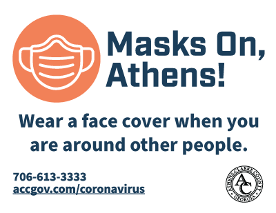 Masks On, Athens! Yard Sign 2